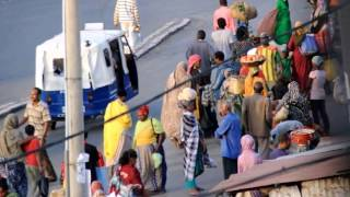 Harar, Ethiopia, Shoa Gate Market (Asma'adin Gate) and Bus Station