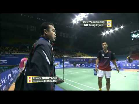 Group (Day 1: Session 1) - MD - H.Hashimoto/N.Hirata vs Ko S.H/Yoo Y.S. - WSS Finals'11