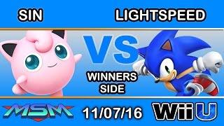 MSM 73 -  DYS | Sin (Jigglypuff) Vs. Lightspeed (Sonic) Winners Side - Smash Wii U