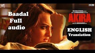 BAADAL AKIRA FULL Audio SONG ENGLISH SUBTITLES