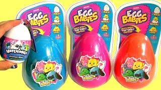 EGG Babies Surpresa Hatchimals E ShopKins aprenda cores