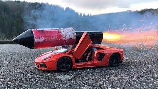 Rocket powered RC Lamborghini Toy Car !!