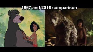The Jungle Book Superbowl Trailer (1967 & 2016 comparison)