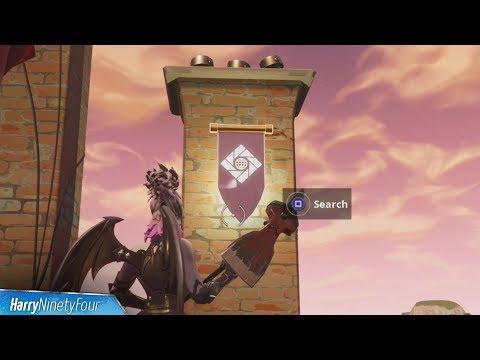 Secret Season 6 Week 8 Banner Location Guide (Hunting Party Challenges) - Fortnite Battle Royale
