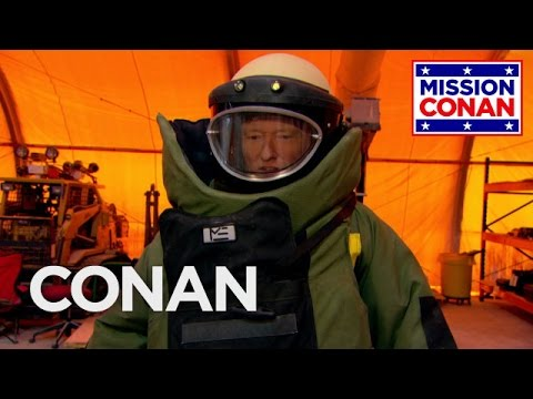 Conan Joins The Explosive Ordnance Disposal Division CONAN on TBS