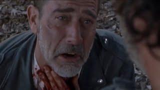 The Walking Dead 8x16 - Rick Slits Negan's Throat