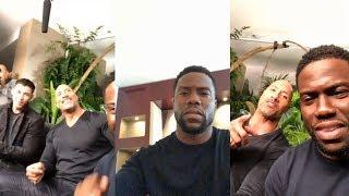 Kevin Hart   Instagram Live Stream   5 December 2017 w/ Nick Jonas & Dwayne Johnson