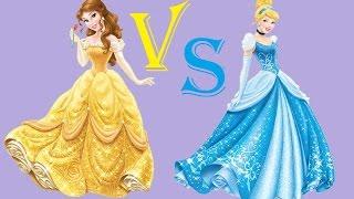 Princess Rap Battle - Cinderella VS Belle (Sarah Michelle Gellar & Whitney Avalon) - LYRICS