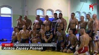 Ankos Zapasy Poznań - pamiątkowe zdjęcie po treningu