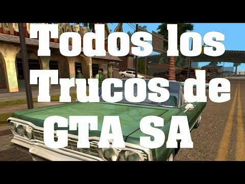 GTA San Andreas Todos los trucos claves y códigos PS2 XBOX PC PS3 PS4