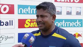 Rangana Herath speaks during his Final International Match