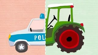 Play Matching Police Car, Trucks, Firefighters - Fun Kids Games to Play for Children