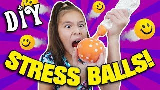 EXPLODING STRESS BALL!!! How to Make DIY Stress Balls with Jillian!