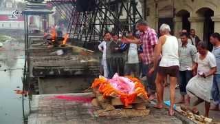 Cremation Dead Corpse Body, Pashupatinath Temple, Kathmandu, Nepal