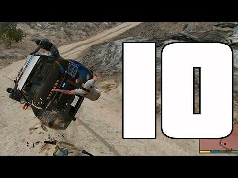 GTA V Accidentes de tráfico a cámara lenta EPIC FAILS 10