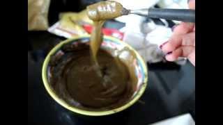 Henna on dark brown hair with coffee!
