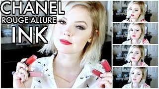 CHANEL LIQUID LIPSTICKS REVIEW | ROUGE ALLURE INK COLLECTION