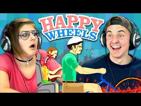 HAPPY WHEELS 1 Teens React Gaming