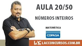 Copasa MG 2017 Curso Completo - Números Inteiros - 20/50