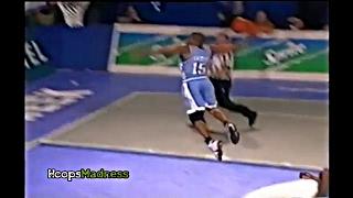 Vince Carter Amazing Dunk vs Bulgaria National Team! Age 19 - Rare!