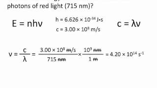 Quantized Energy and Photons - Chemistry Tutorial