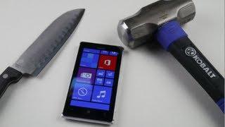 Nokia Lumia 925 Hammer & Knife Test