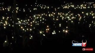 Jallikattu protesters lights up Marina beach with mobile torch lights | News7 Tamil