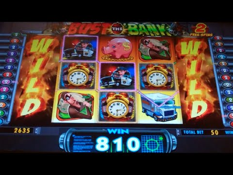 Bust the Bank Slot Machine - 2 Bonuses - 9 Free Games Win with 2 Locked Wild Reels