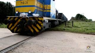 Persiguiendo tren con caliza!!! 21 de Mayo 2018!!! Alsthom # 813
