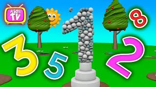 Learn numbers with balls and toys. 3D Cartoons for children Video for kids
