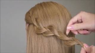 3 Strands Uneven Braid Hair Tutorial   Video Dailymotion