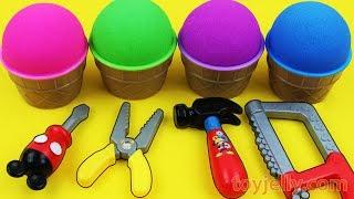 Kinetic Sand VS Mad Matter Kinetic Sand Ice Cream Surprise egg Kinder Surprise Toys Fun for Children