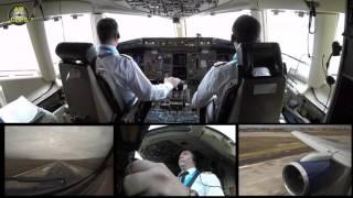 Azerbaijan Airlines B757 Landing Nakhchivan Cockpit view! [AirClips]