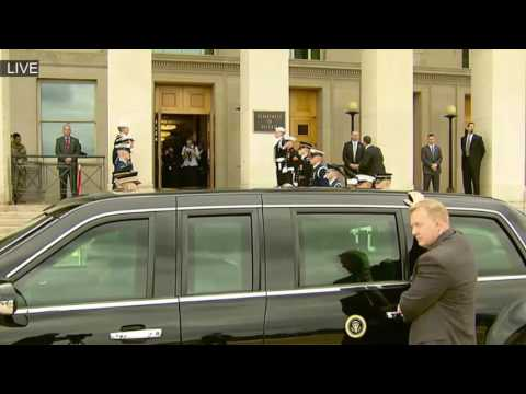 President Donald Trump Arriving at The Pentagon MUST WATCH ✔