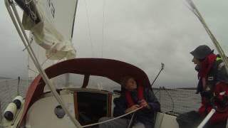 Sailing in fresh breeze. s/y La Isla (Albin 57).