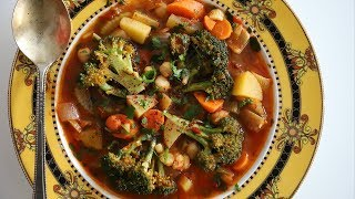 Mixed Veggie Summertime Soup Recipe - Heghineh Cooking Show