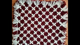 make awesome  table mat,door  mat,tv,laptop,dish tv cover  (without crochet and salai)