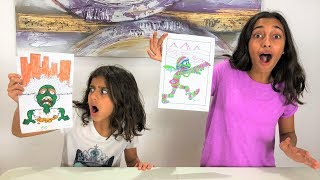 3 Color Marker Halloween Challenge!!!! kids fun