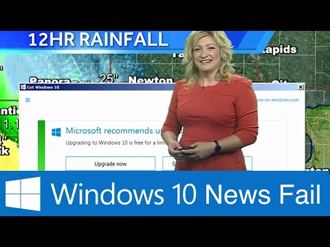 MICROSOFT WINDOWS 10 Update Interrupts Weather Funny FAIL