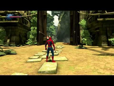 Spider Man Shattered Dimensions in game fan vid OPENING&BOSS fight w KRAVEN on PC