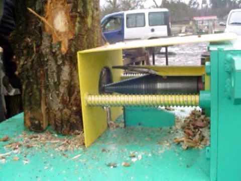 Łuparka świdrowa łuparka do drewna Kuželová štíepačka dreva Holzspalter Kegelholzspalter