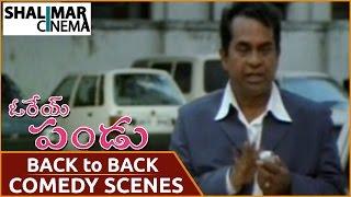 Orey Pandu Movie || Brahmanandam Back To Back Comedy Scenes || Shalimarcinema