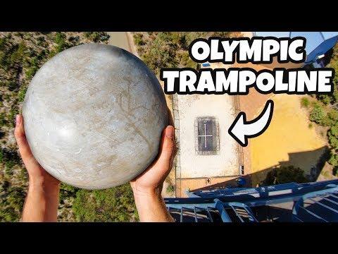 ATLAS STONE Vs. OLYMPIC TRAMPOLINE from 45m