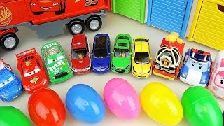 Cars Truck and Surprise eggs with Robocar Poli carbot car toys