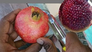 Best way to open pomegranates