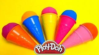Play-Doh Ice Cream Cone Surprise Eggs & Cupcakes Mega Compilation