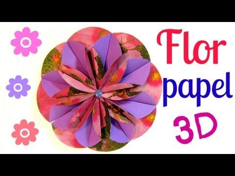 Cómo hacer flores de papel (Dahlia). How to make paper flower.