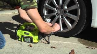 Ryobi 18V Cordless Inflator P731 - Inflate Tires Without a Compressor