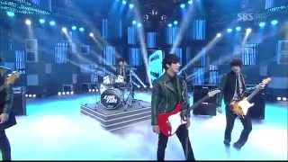 [LIVE] 120422 C N  BLUE   Hey You, Ending (Goodbye Stage) @ SBS Inkigayo