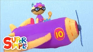 10 Little Airplanes | Kids Songs | Count To Ten | Super Simple Songs